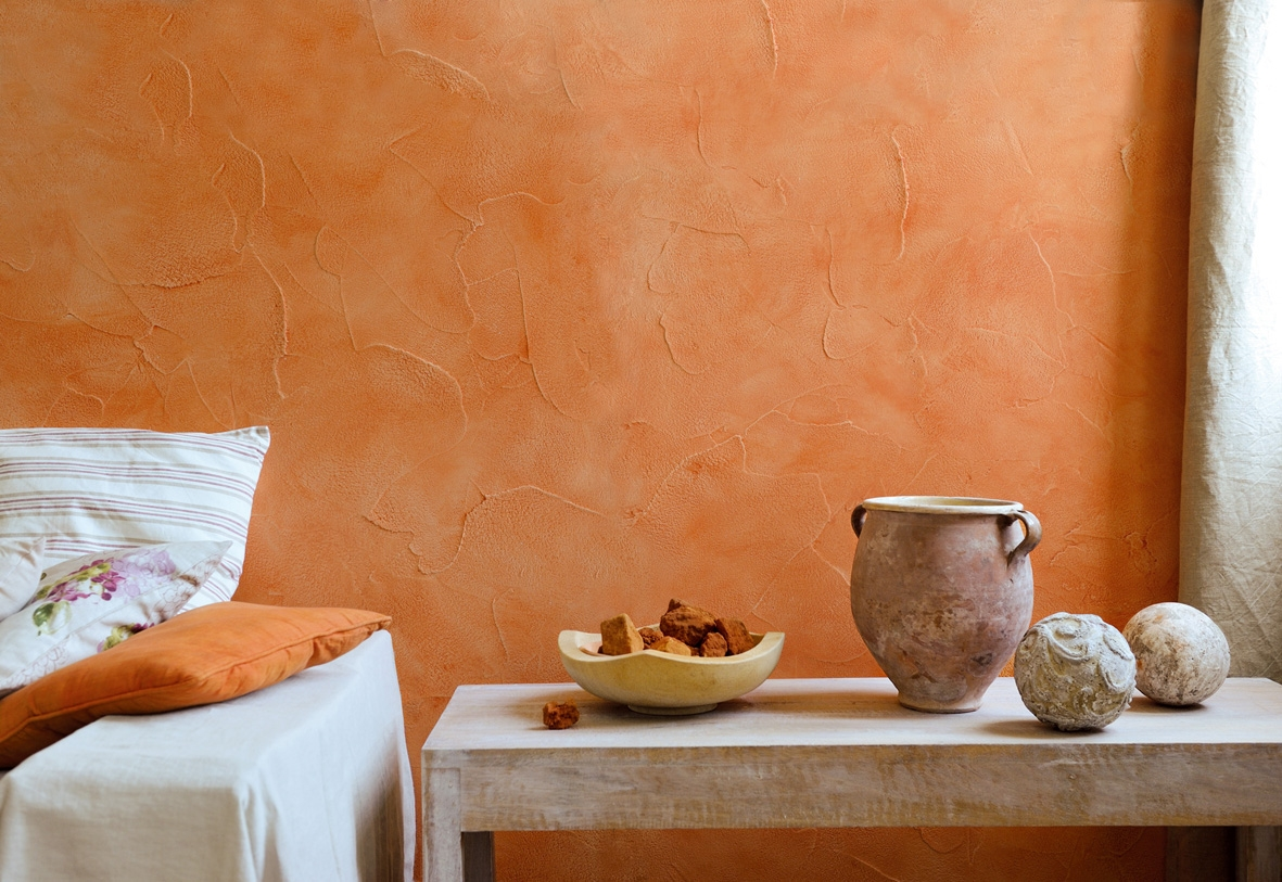 Декоративная краска оранжевая
