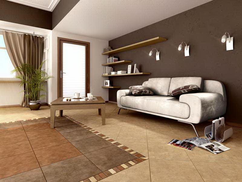 Плитка в гостиной