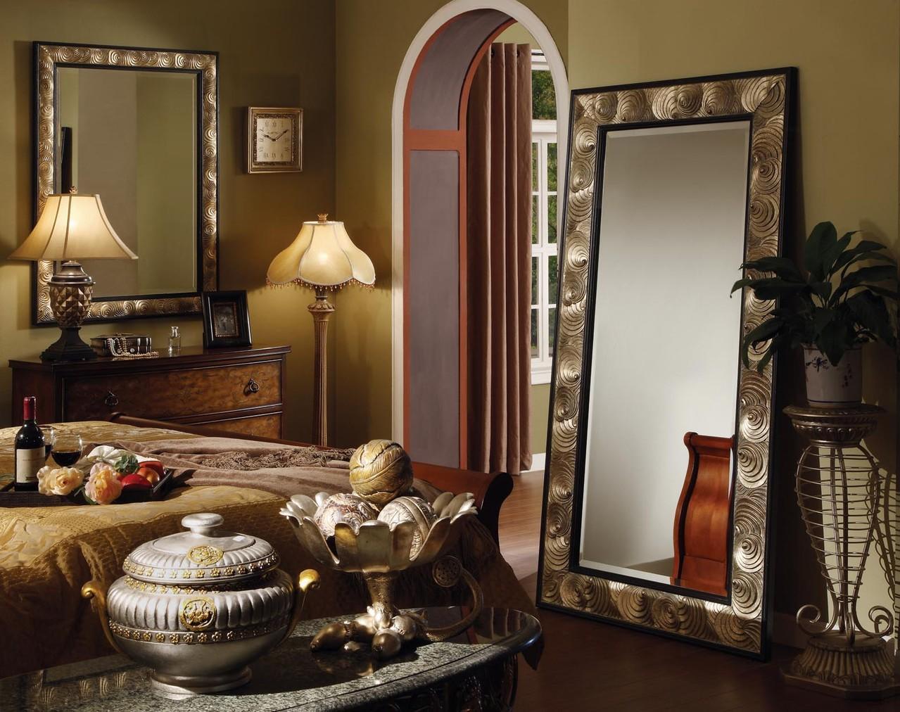 Напольное Зеркало в Раме Металлическое Или Деревянное Передвижное на Колесиках Или с Тумбой Для Прихожей