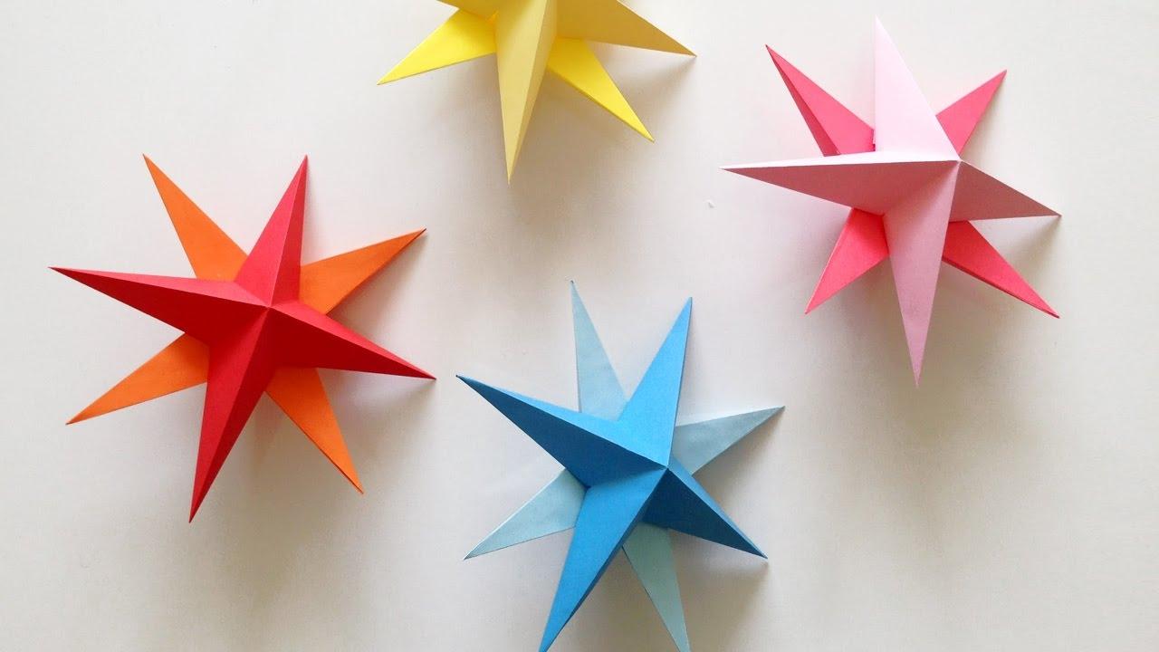 Звезды из бумаги для дома