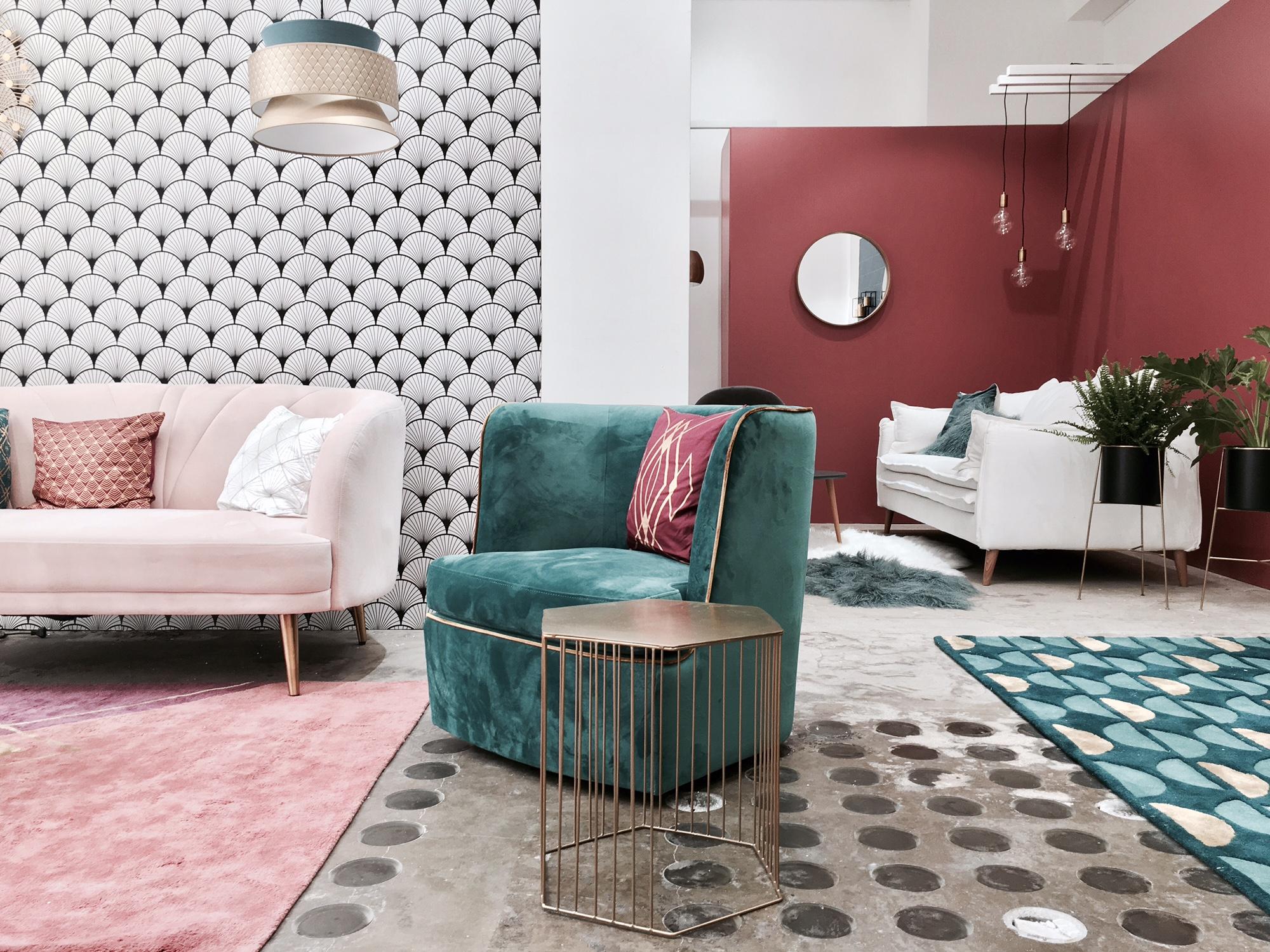 Дизайн бирюзовой гостиной 2018