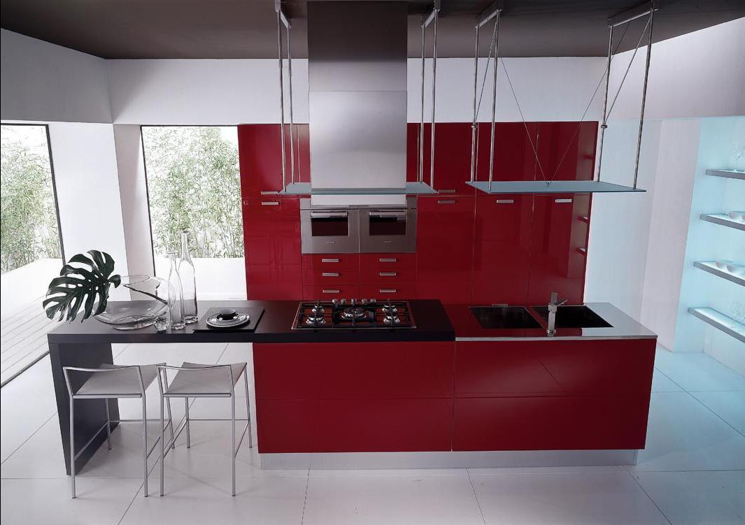 Бордовая кухня: оригинальный подход к оформлению (27 фото)