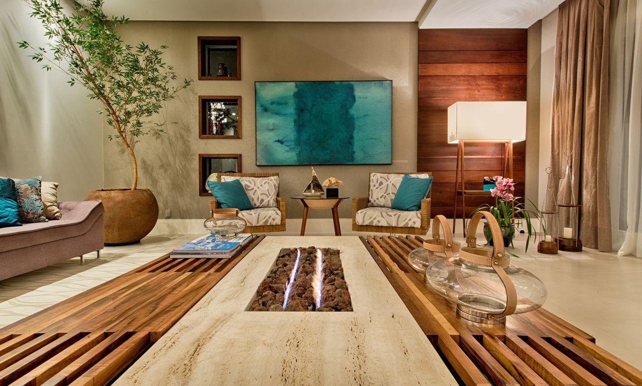Дизайн бирюзовой гостиной в стиле эко