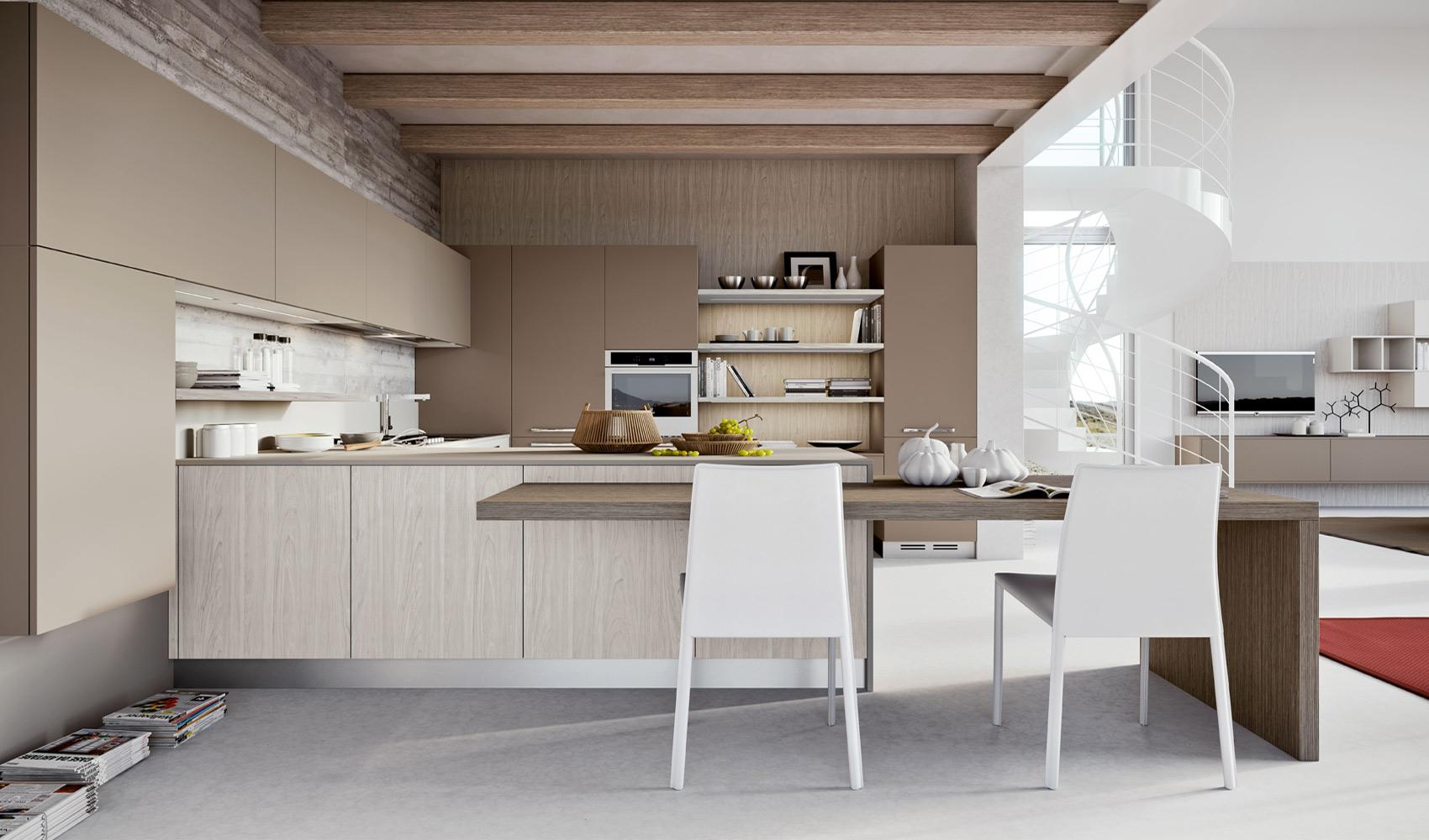 Дизайн кухни цвета ванили