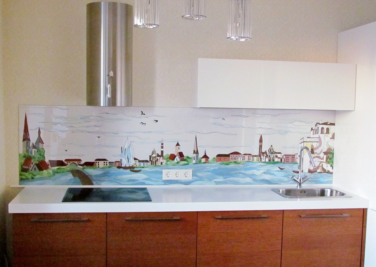 Пластиковый кухонный фартук