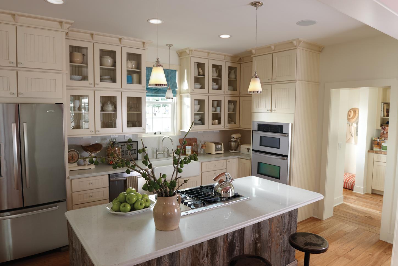 Кухня цвета ванили модульная