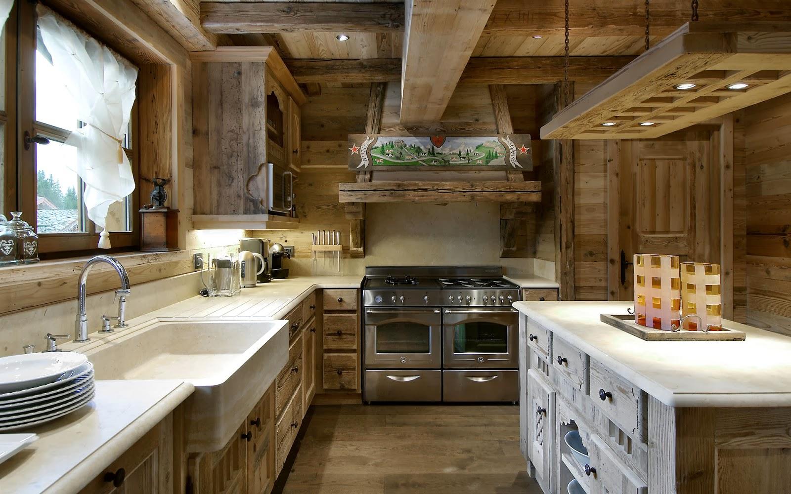 Как оформить кухню в стиле шале? Особенности стиля (25 фото)