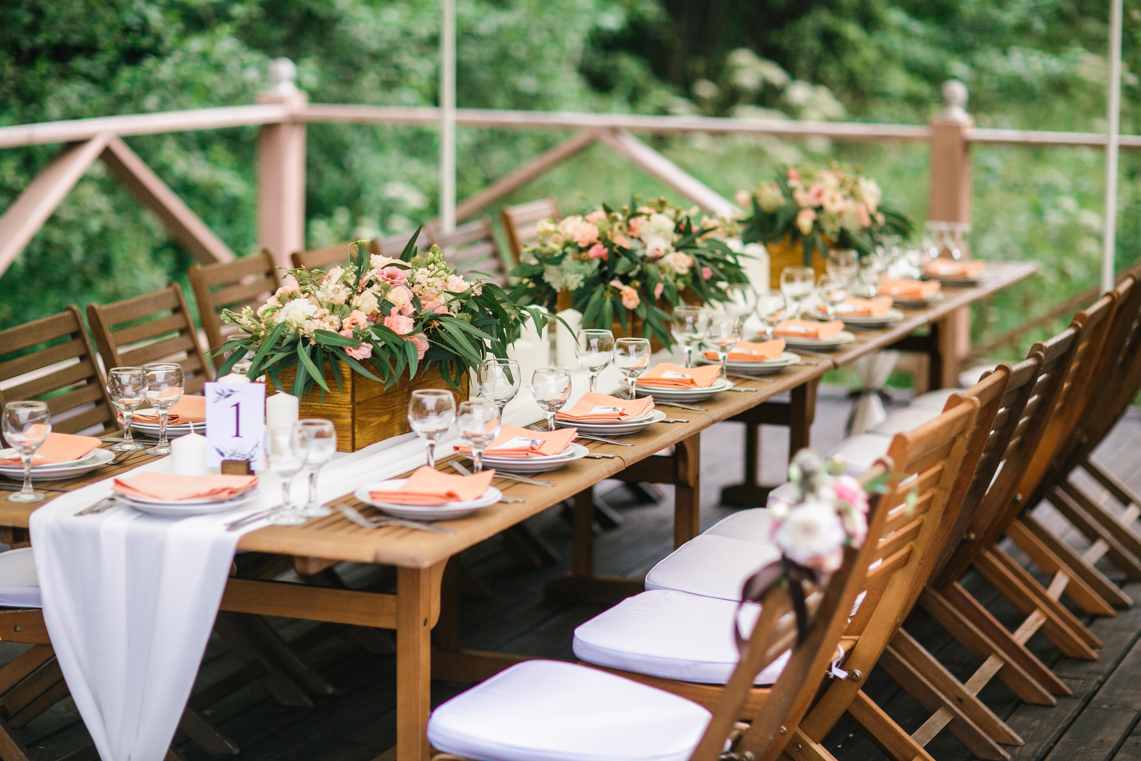 Оформление свадебного стола в стиле прованс