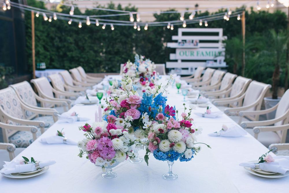 Декор стола для гостей