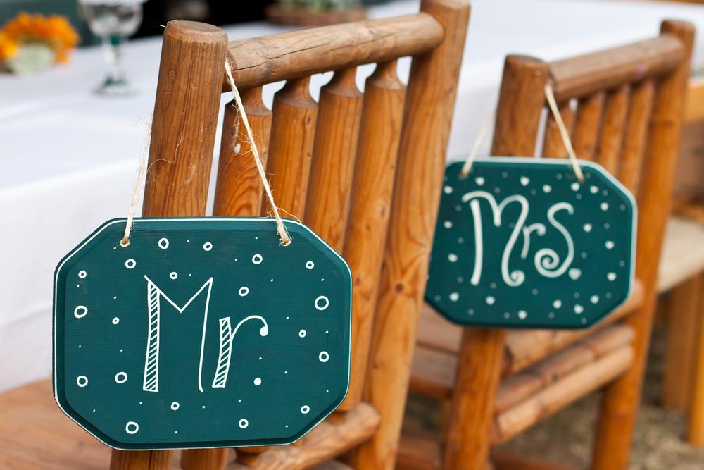 Декор стульев жениха и невесты
