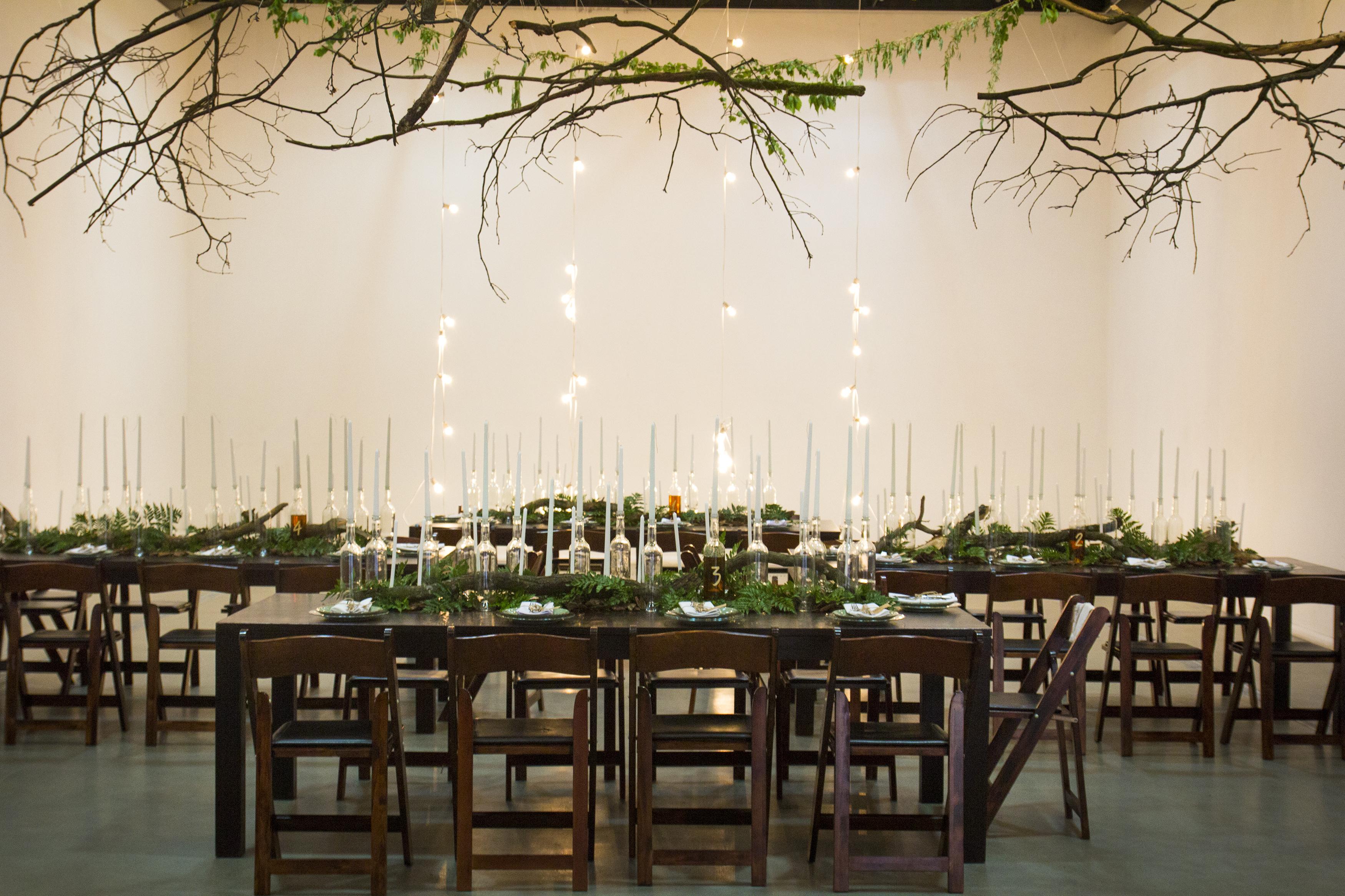 Свадебный стол в эко стиле