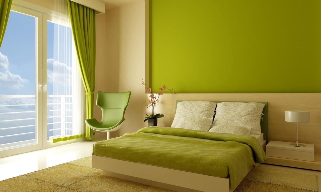 Акриловая краска для обоев в спальне