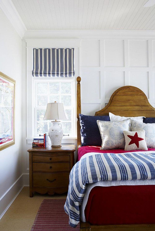 Кровать изголовьем к окну в американском стиле