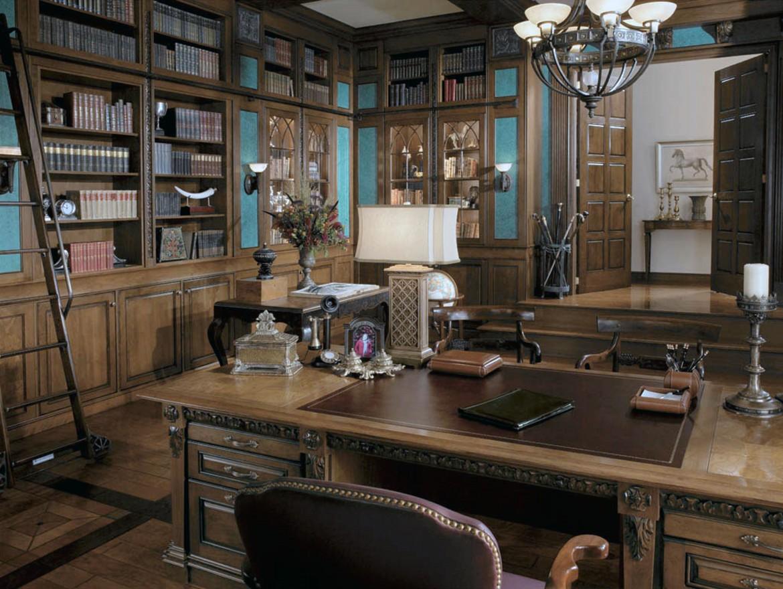 Дизайн интерьера кабинета руководителя в английском стиле