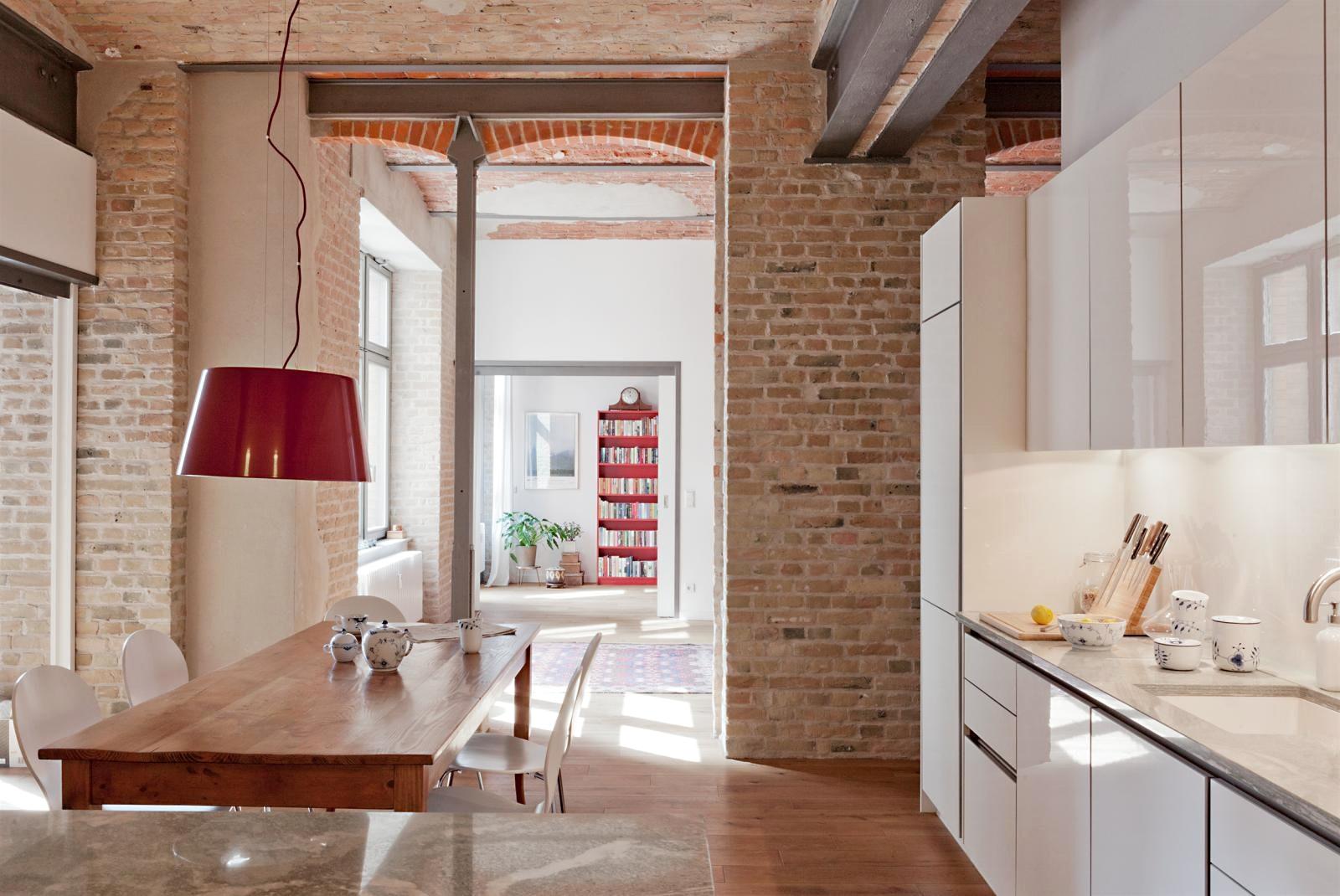Кирпичная арка в кухне