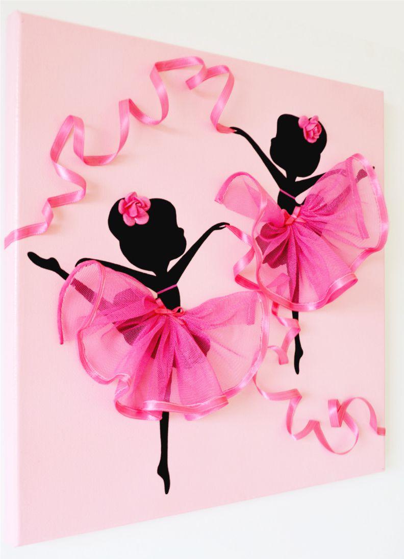 Панно декоративное из бумаги с балеринами