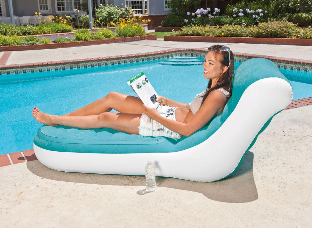 Надувное кресло для бассейна