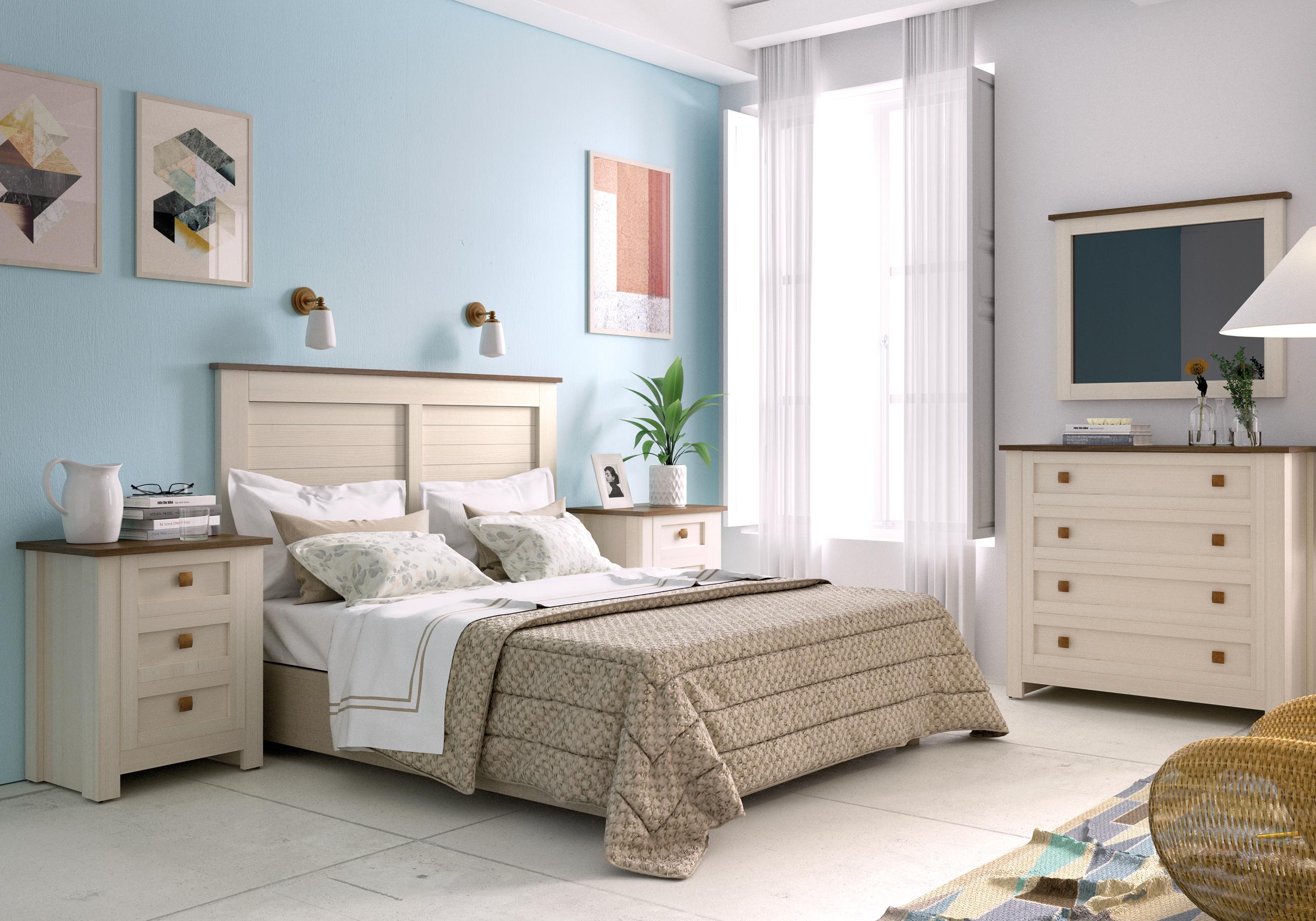 Расстановка мебели в спальне белой