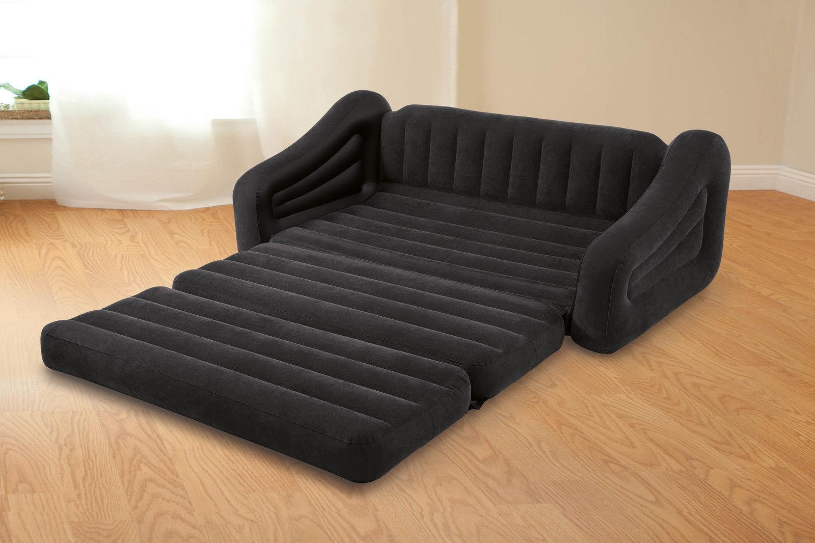 Черный надувной диван