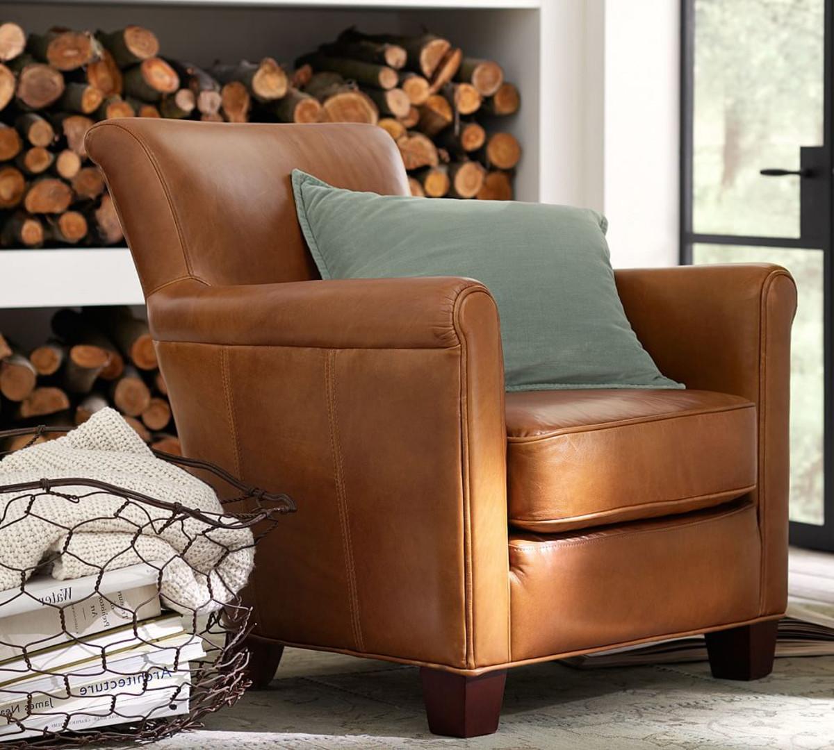 Классическое кожаное кресло