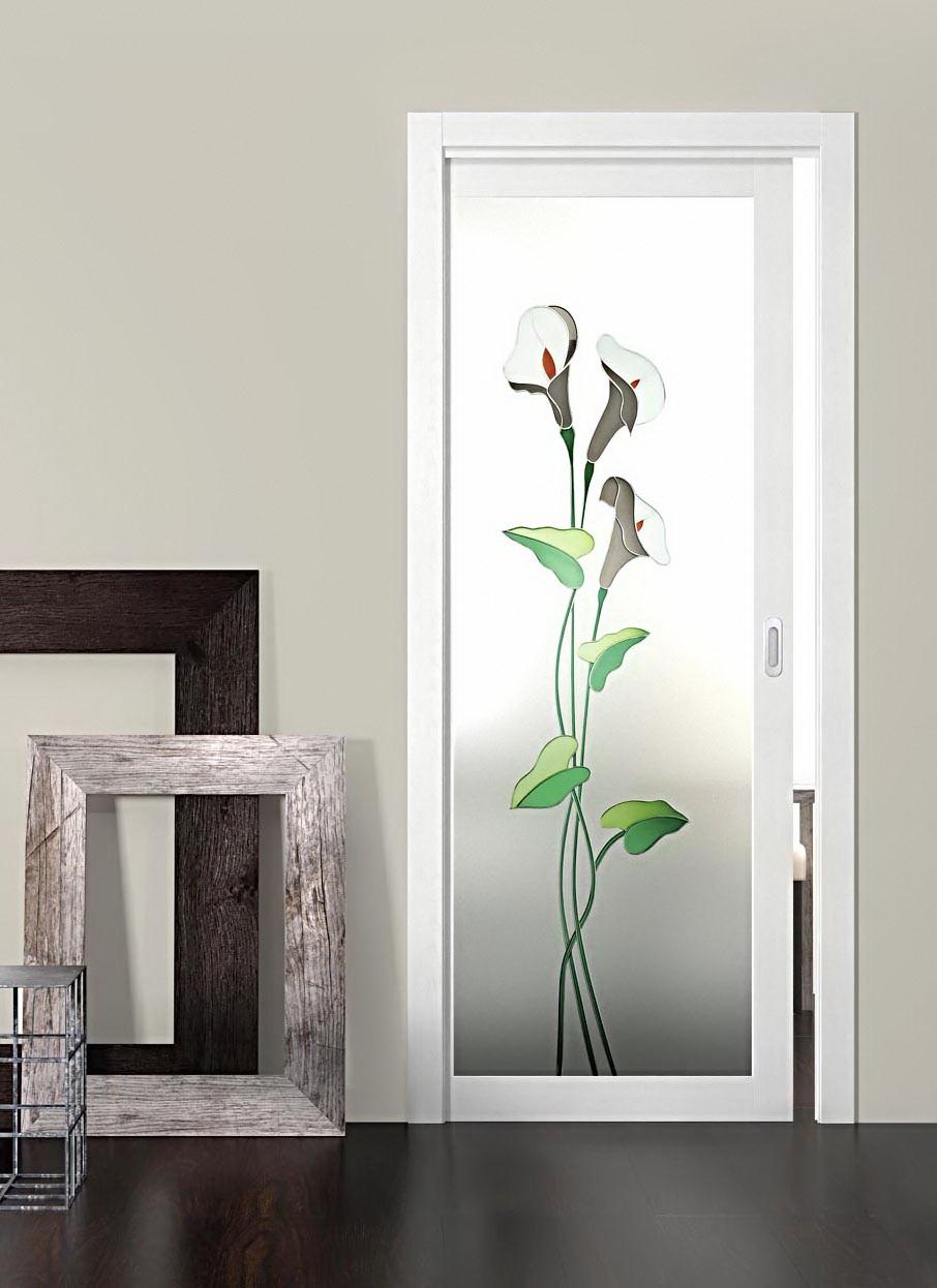 Декор на двери со стеклом