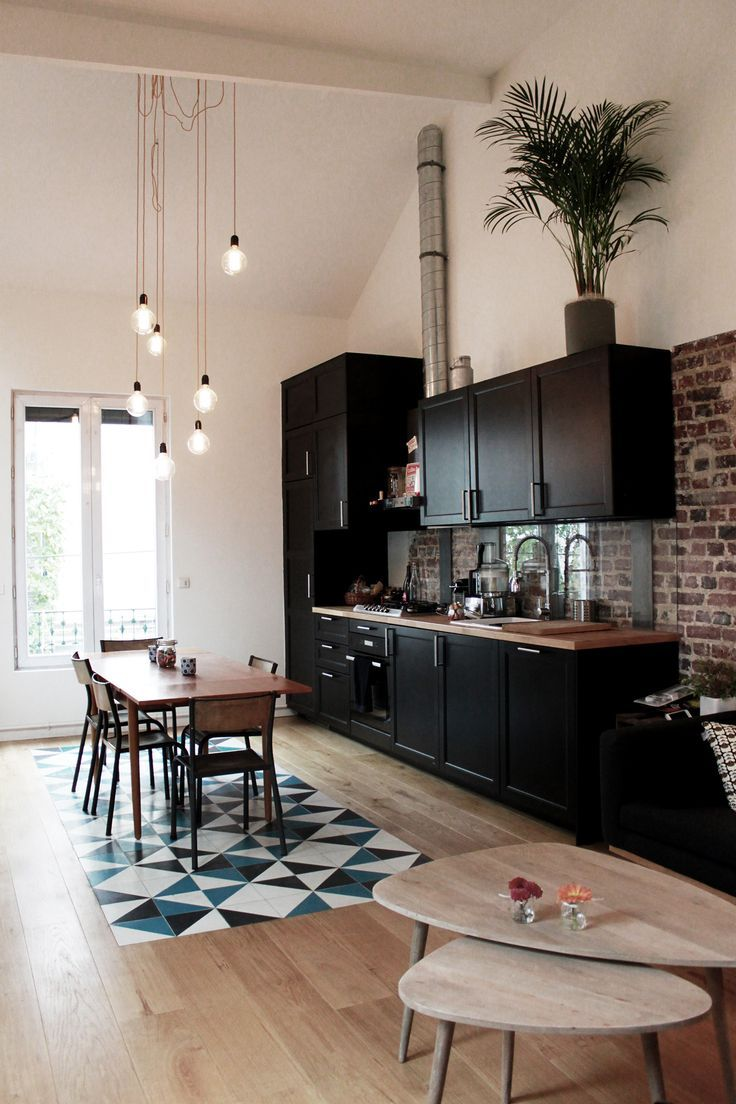 Декоративный кирпич в кухне