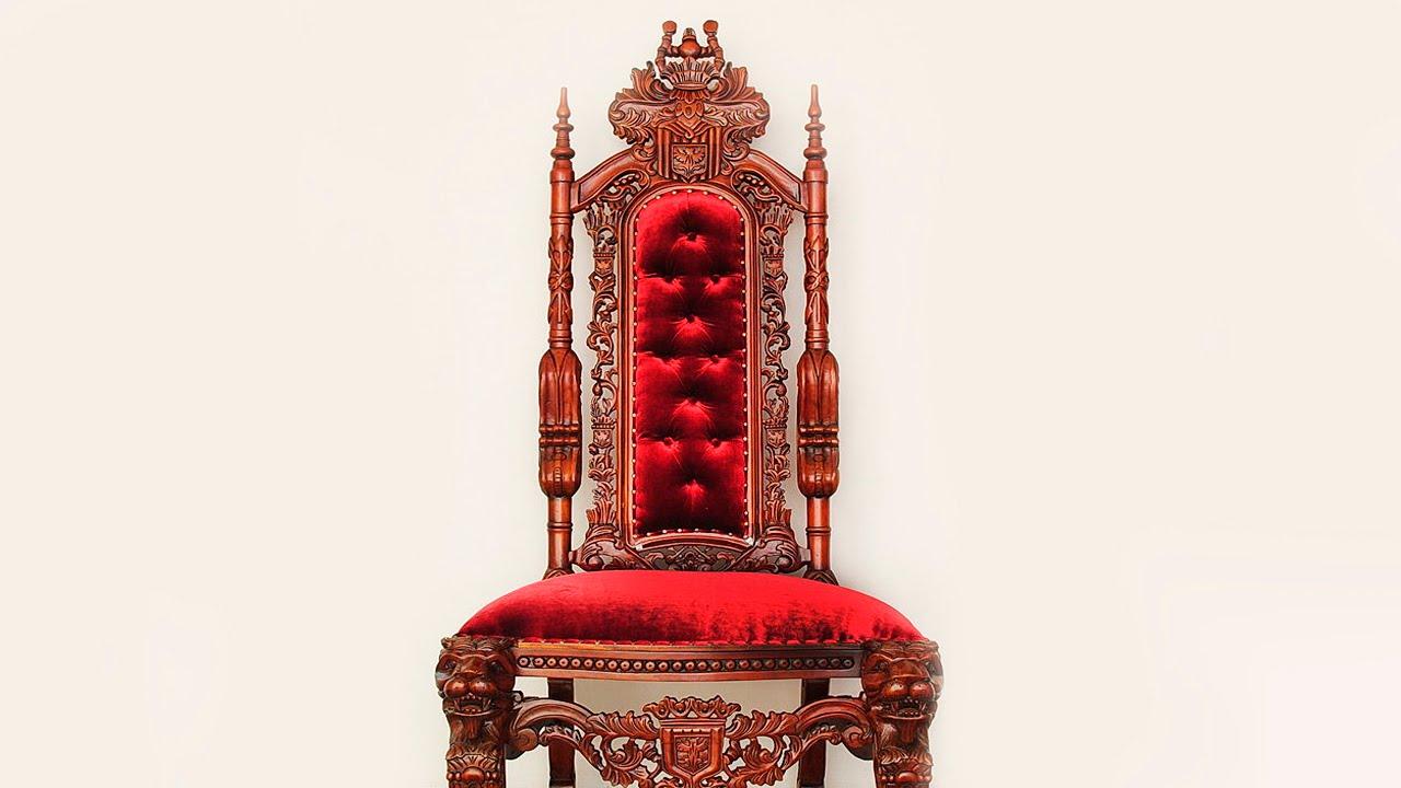 Кресло-трон из дерева