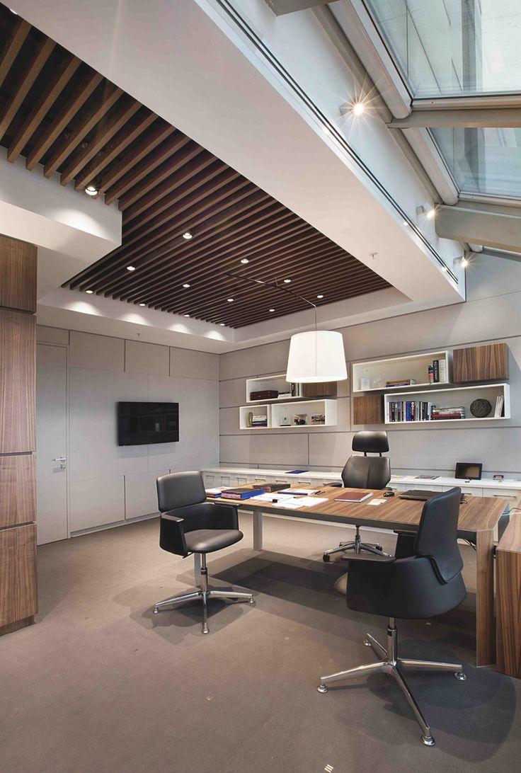 Дизайн интерьера кабинета руководителя с деревом