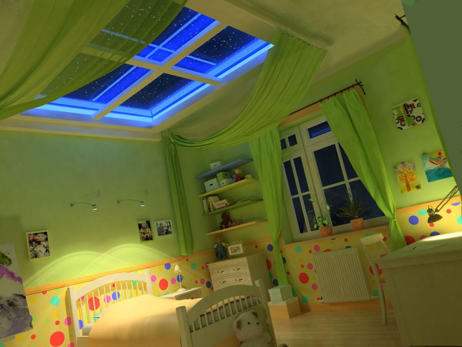 Подсветка окна в детской