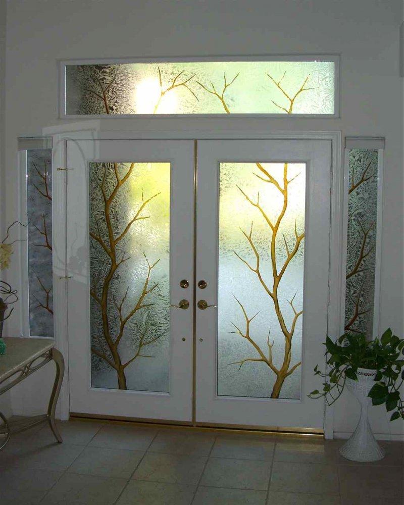 Дизайн двери со стеклом