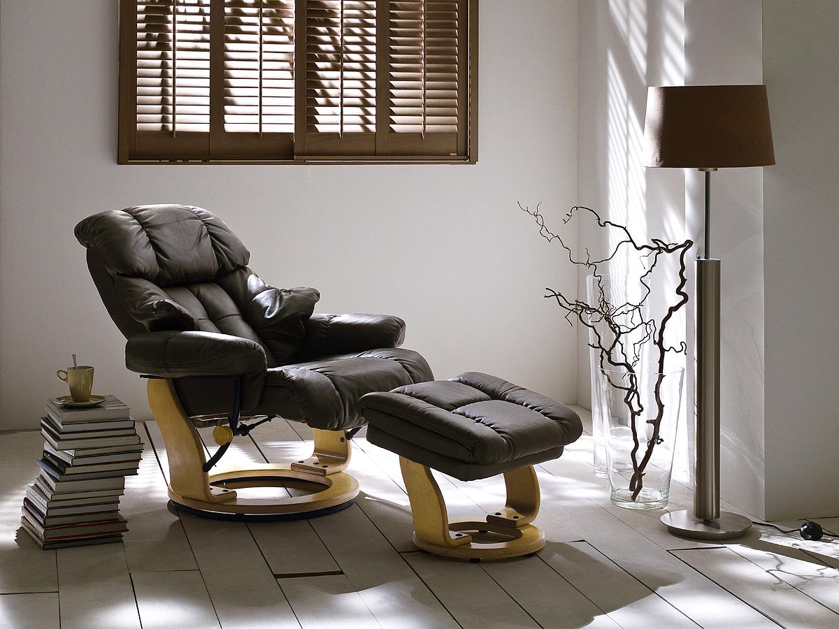 Кресло с Механизмом Реклайнер Кожаное с Электроприводом