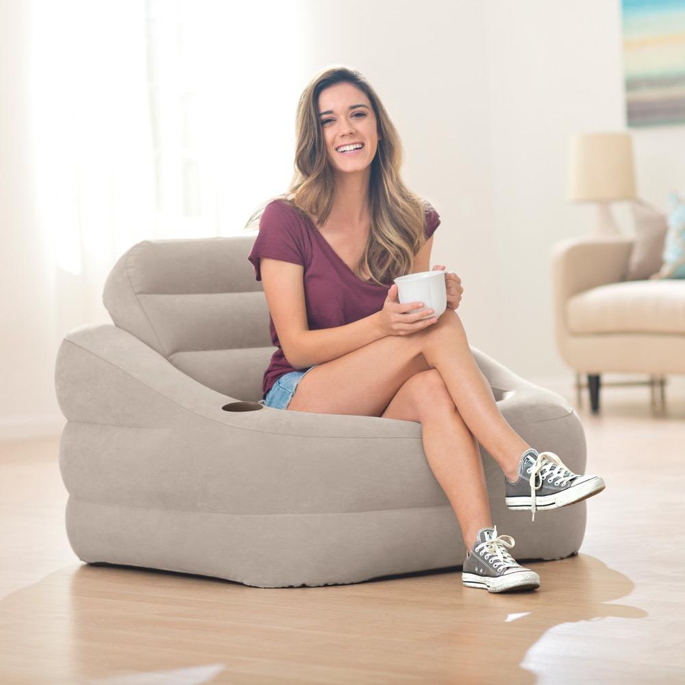 Надувное кресло с электрическим насосом