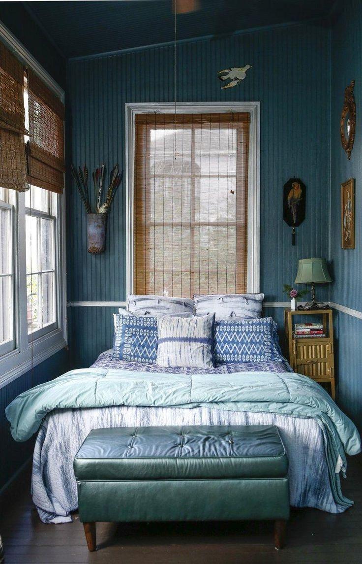 Дизайн узкой спальни в этническом стиле