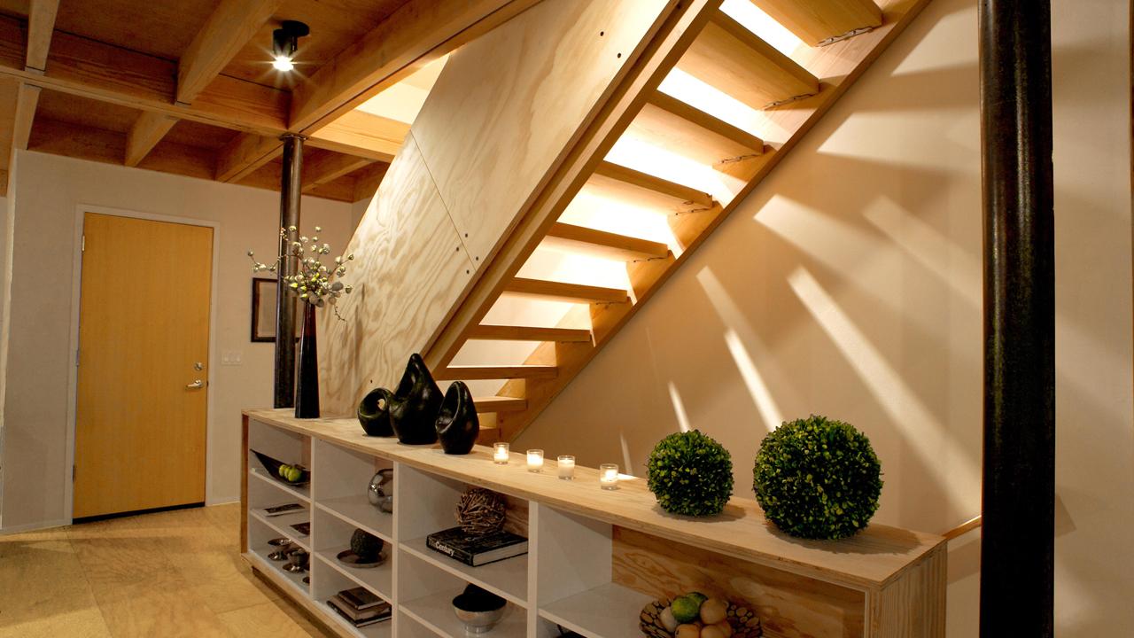 Маршевая лестница из фанеры
