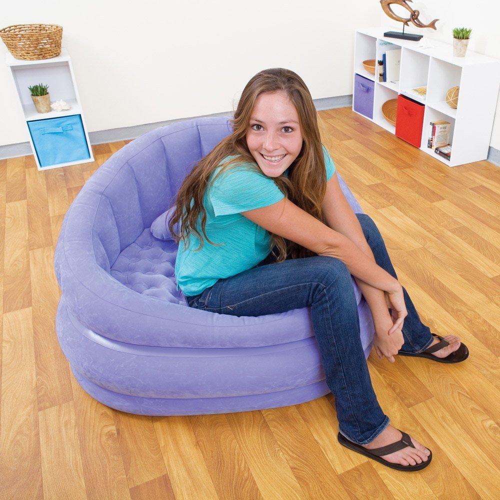 Фиолетовое надувное кресло