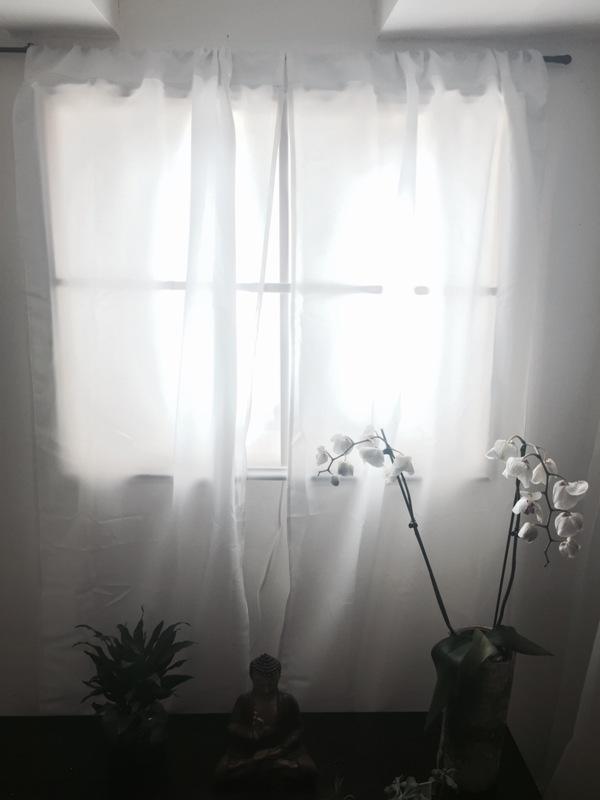 Подсветка окна в гостиной