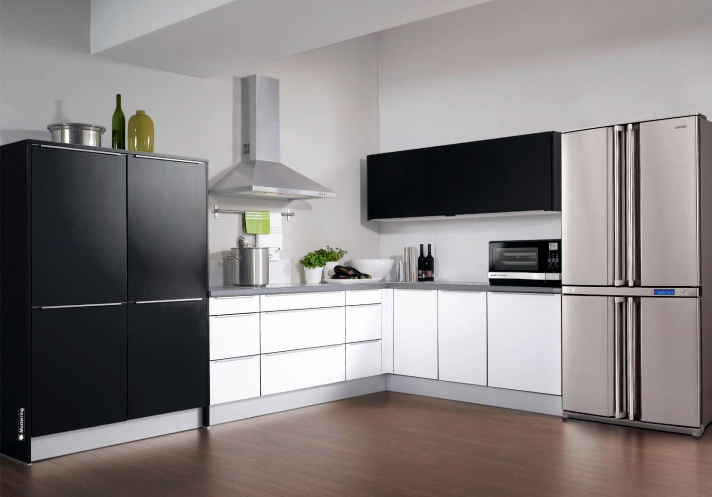 Двухдверный холодильник в стиле хай-тек