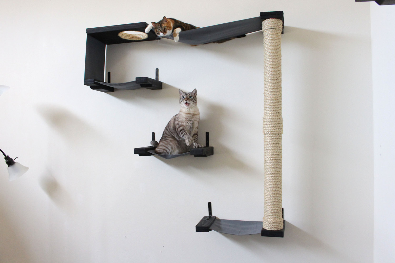 Гамак для кошки с игровой площадкой
