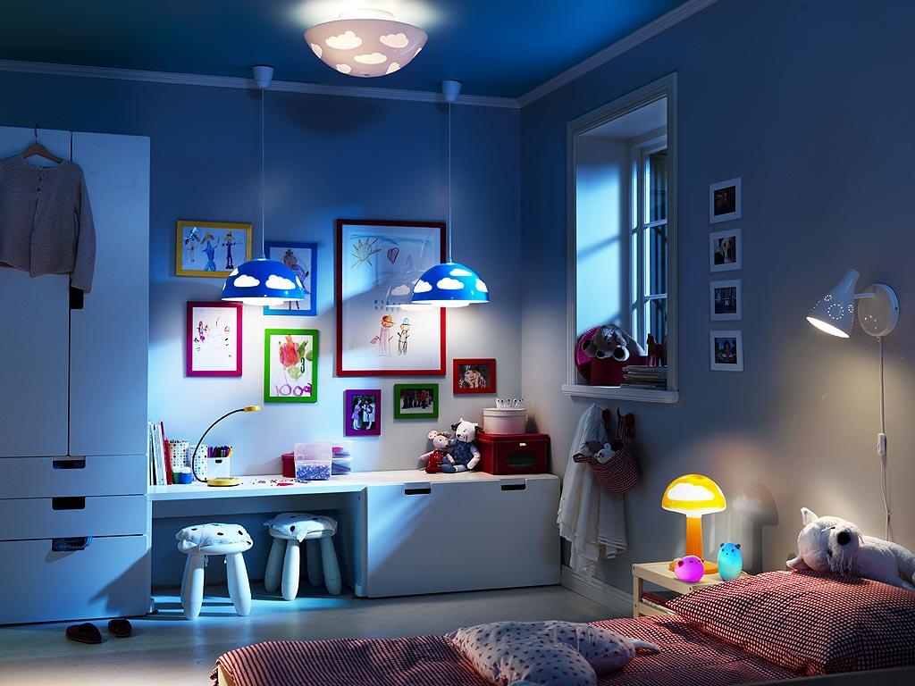 Светодиодный ночник в интерьере детской