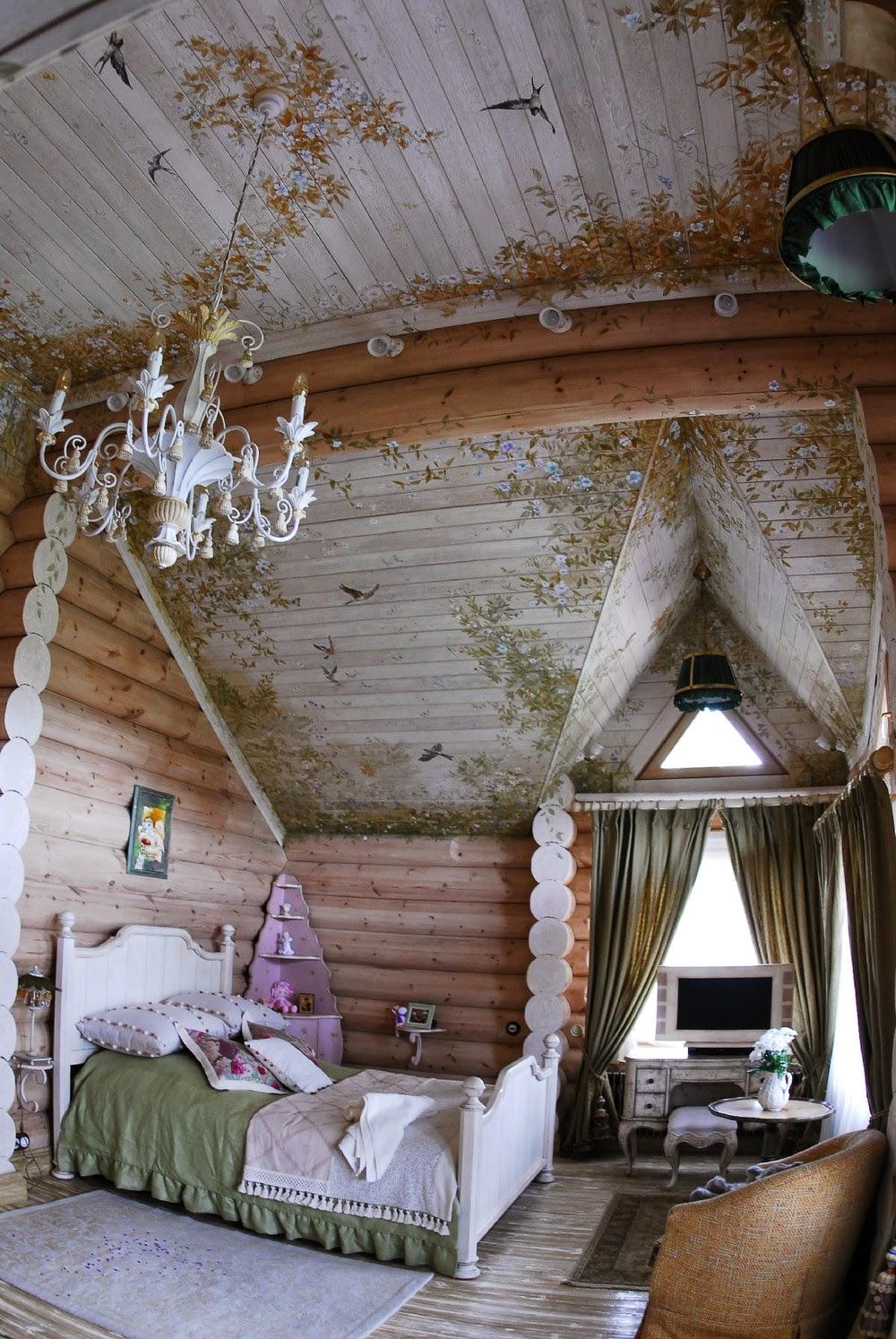 Русский интерьер загородного дома