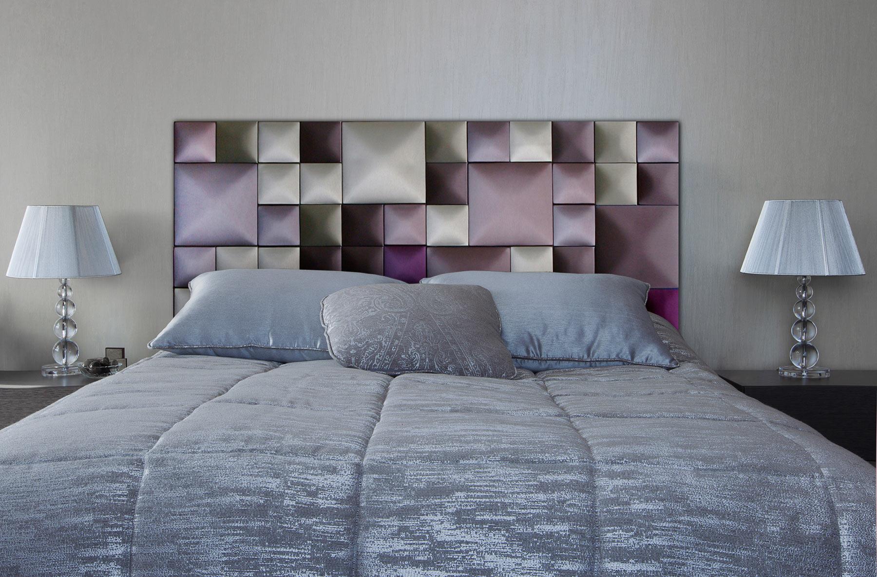 Мягкие панели в изголовье кровати
