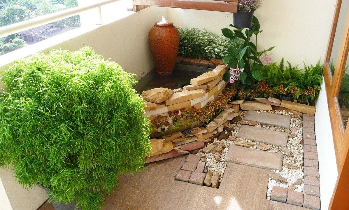 Сад камней на балконе