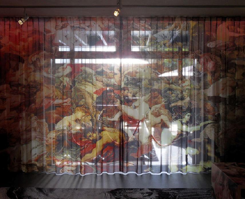 Фотопринт картины на шторах