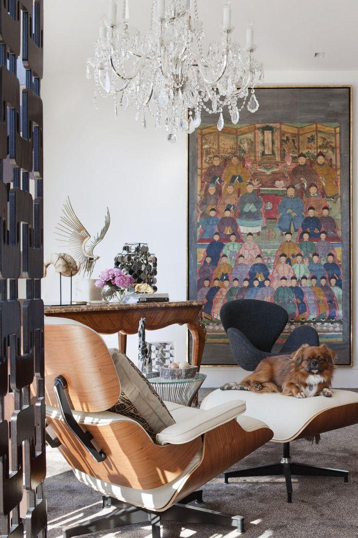Кресло реклайнер в китайском стиле