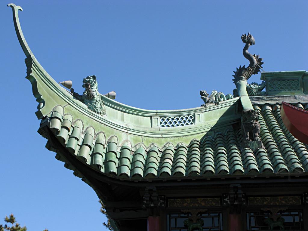 Крыша дома в китайском стиле