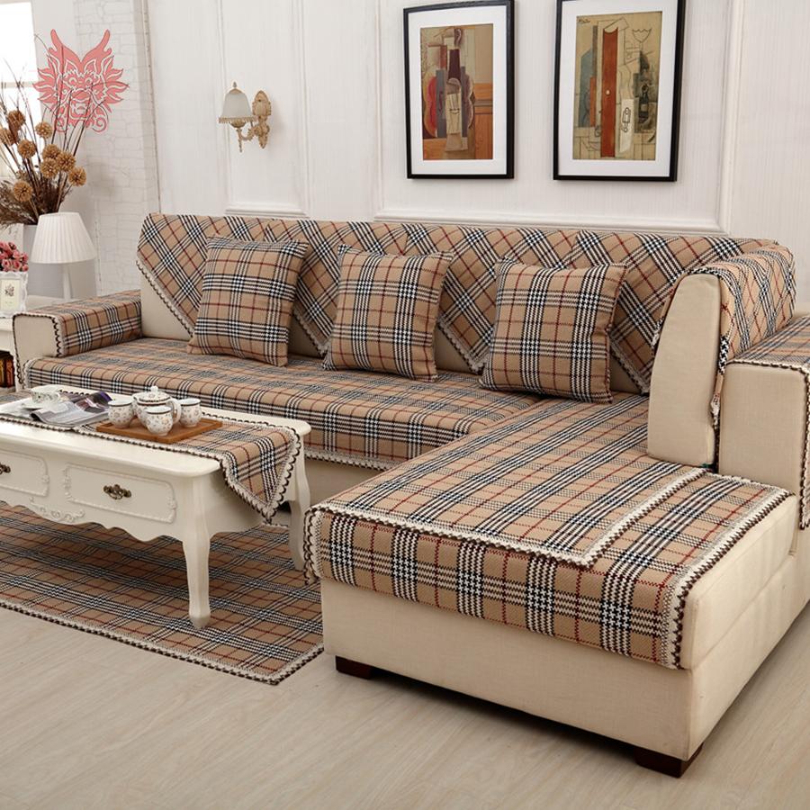 Клетчатый диван-канапе