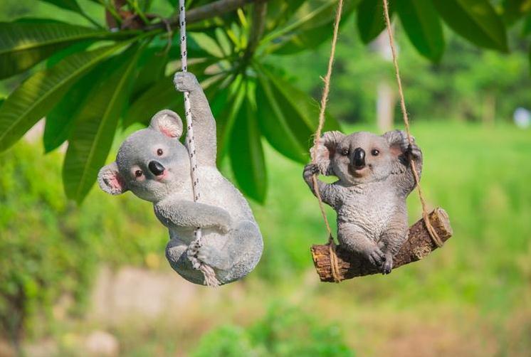 Подвесные скульптуры коал для сада
