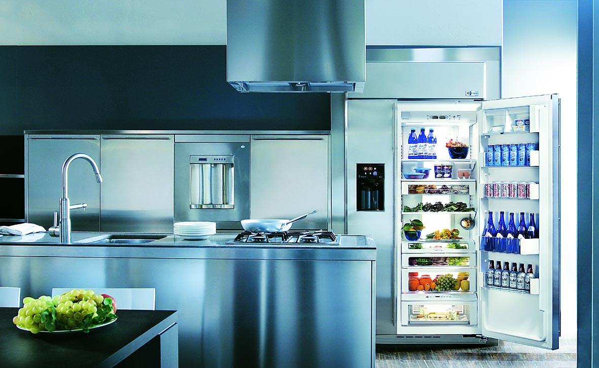 Двухдверный холодильник с функцией приготовления коктейлей