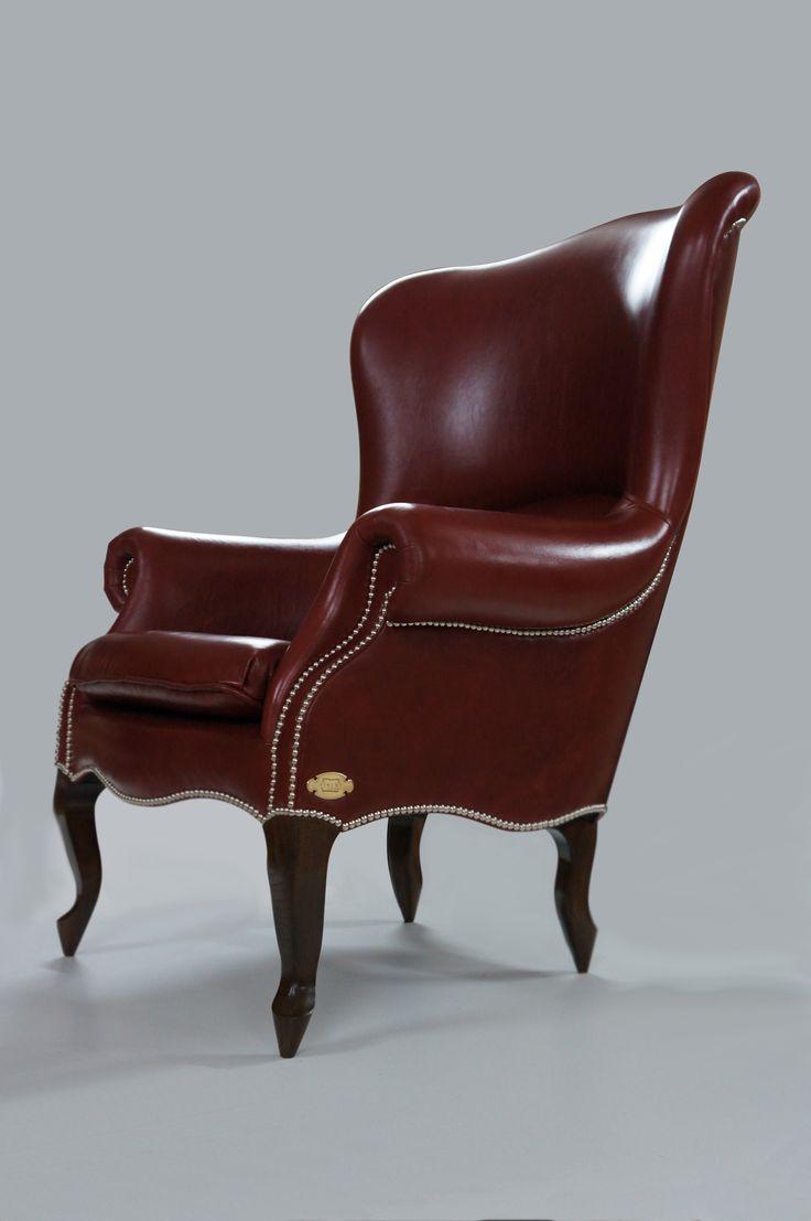 Коричневое кресло-трон