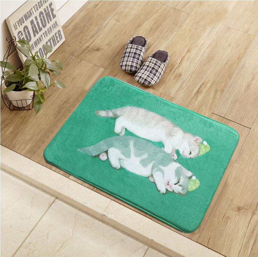 Придверный коврик с рисунком котят